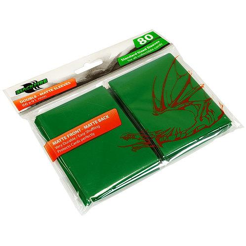 Протекторы Blackfire Double-Matte (80 шт) зеленые