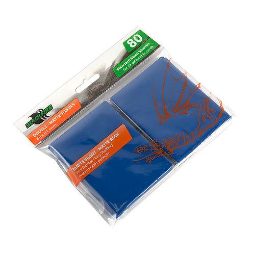 Протекторы Blackfire Double-Matte (80 шт) синие