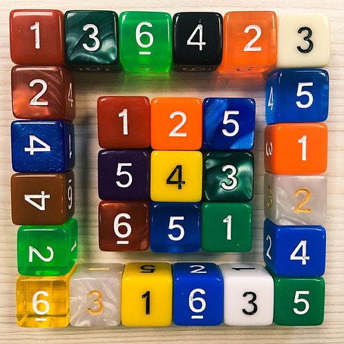 D6 15мм цветной (с арабскими цифрами)