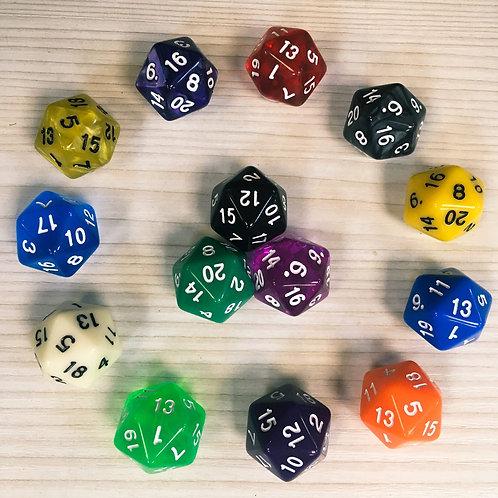 D20 (кубик 20 граней, цветной)