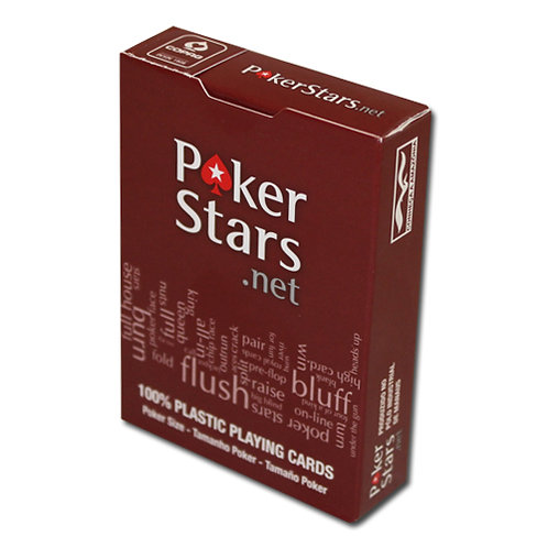 """Карты для покера """"Poker Stars"""" 100% plastic (красные)"""