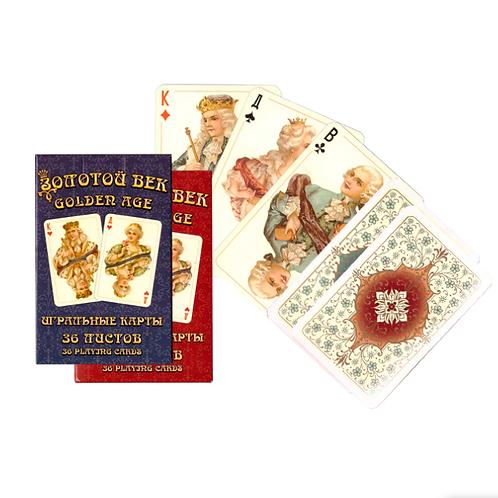 Игральные карты Золотой век (36 листов)