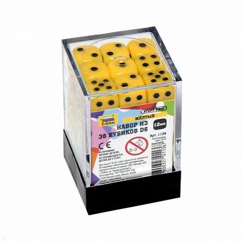 Набор из 36 кубиков D6 12мм