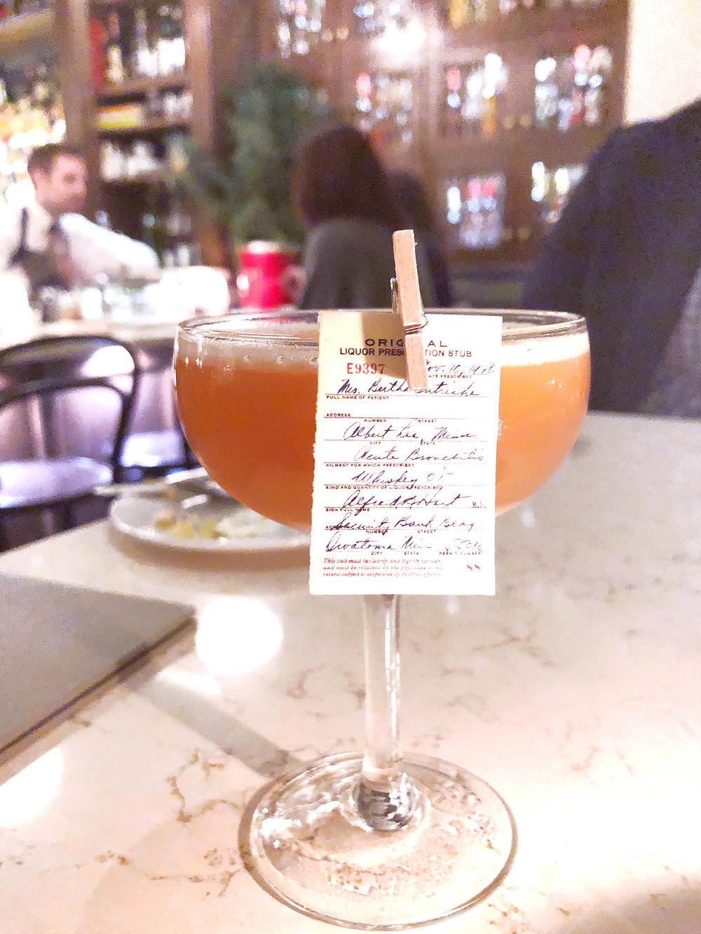 Clementine – Liquor Prescription Cocktail