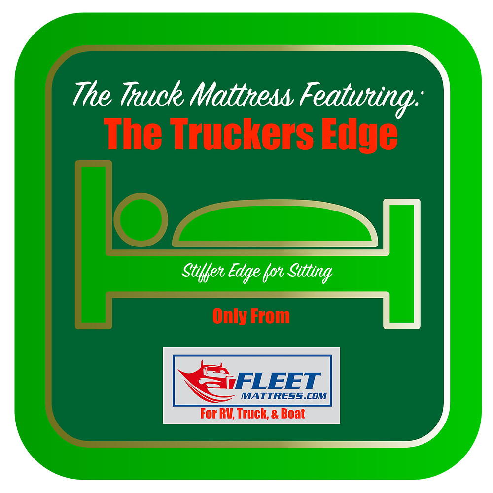 The Truckers Edge offers a stiffer side for when you are not sleeping, but rather sitting.