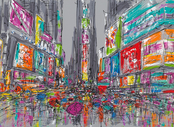RAINY DAY IN TIMES SQUARE
