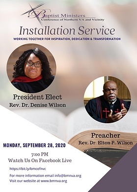 Baptist Ministers Conference Installatio
