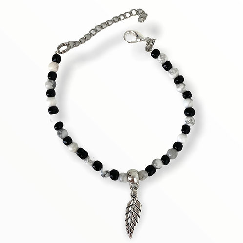 Armband Marble feather
