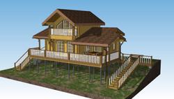 Проект дома на винтовых сваях