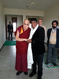 his holiness the dalai lama wirh deepak ji