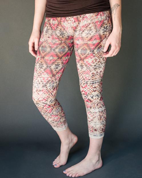 • SANUR• graphic high-waist 'tummy tuck' crop leggings