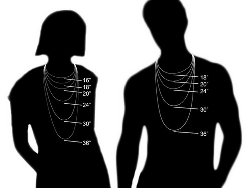 Bildresultat för necklace size chart