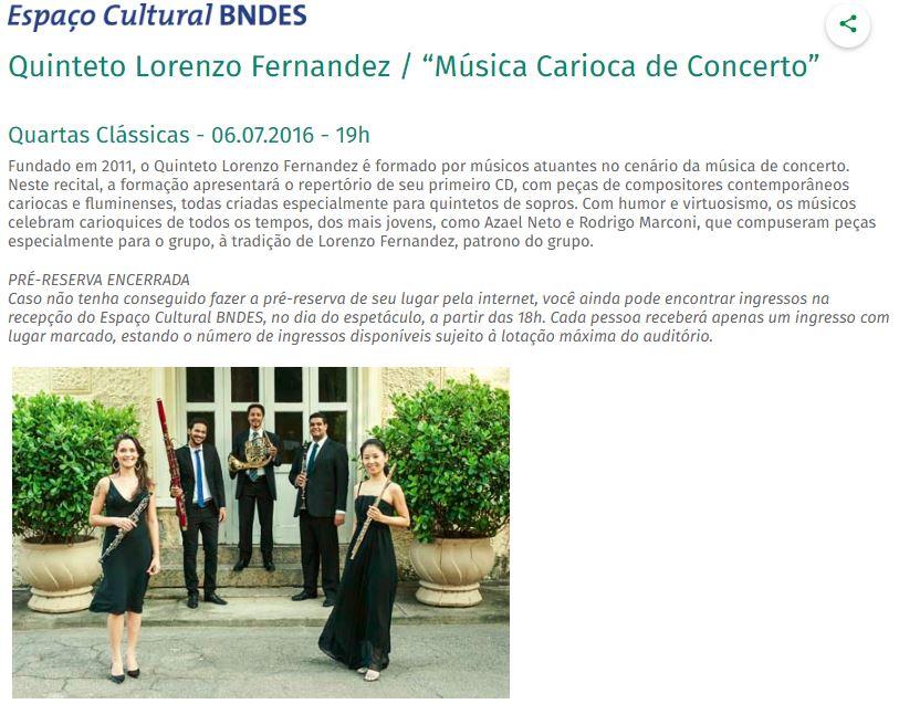 Concerto no BNDES