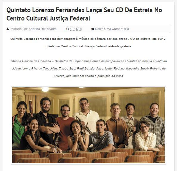 Lançamento do CD