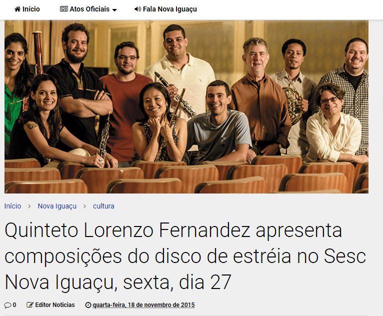 Concerto no SESC de Nova Iguaçu