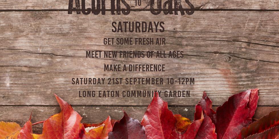 Acorns To Oaks SATURDAYS - 21st September 2019