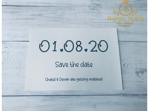 Save the date (Large Font)