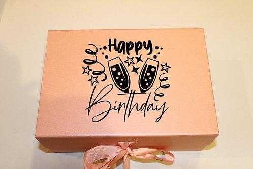 Small Birthday Gift Box (Champagne)