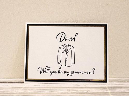 Flat Proposal Card (Groomsmen)