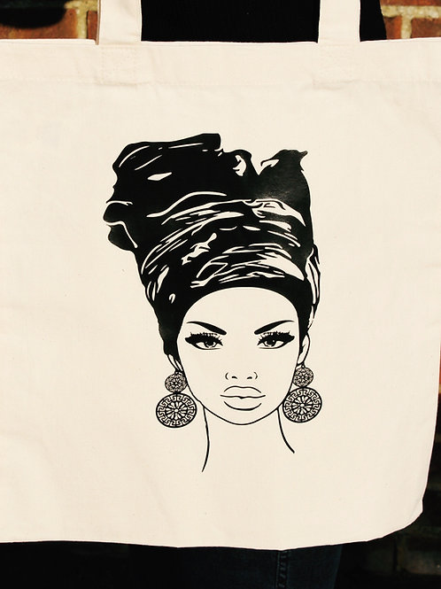 Cotton Tote Bag - Nubian Queen