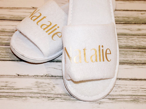 Personalised Open Toe Slippers