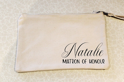 Wristlet Pouch - Name & Role