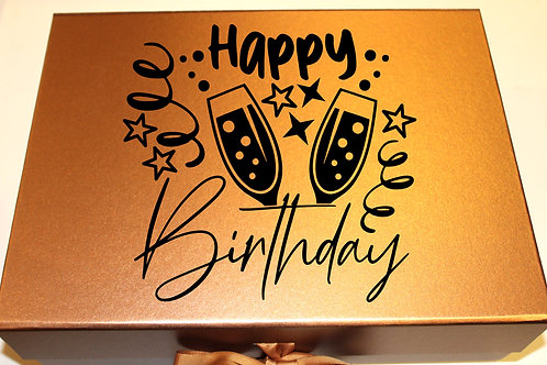 Large Birthday Gift Box(Champagne)