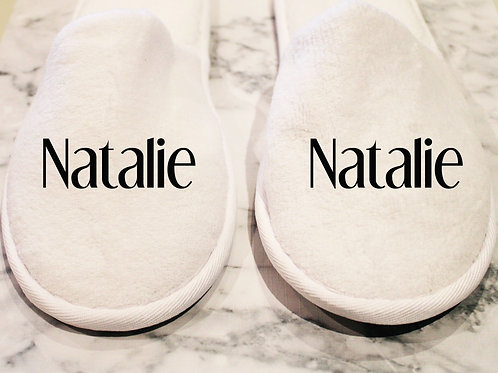 Personalised Closed Toe Slippers
