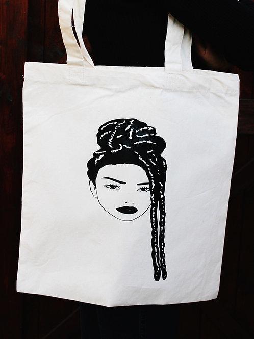 Cotton Tote Bag - Lady