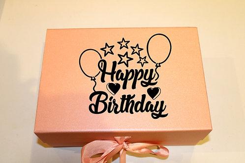 Small Birthday Gift Box (Balloons)