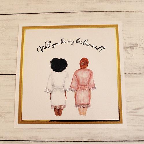 Flat Bridesmaid Proposal Card