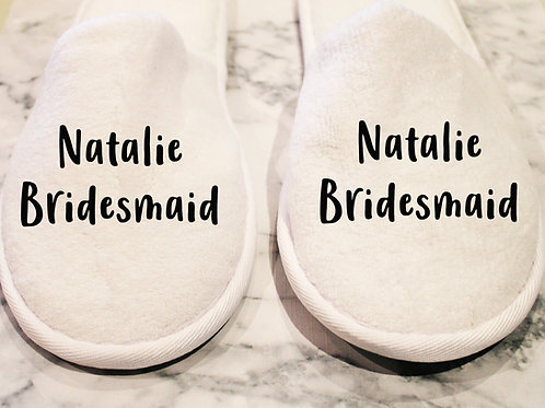 Closed Toe Slippers - Name & Role Style 2