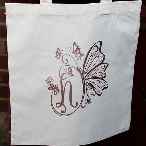 Cotton Tote Bag -Butterfly
