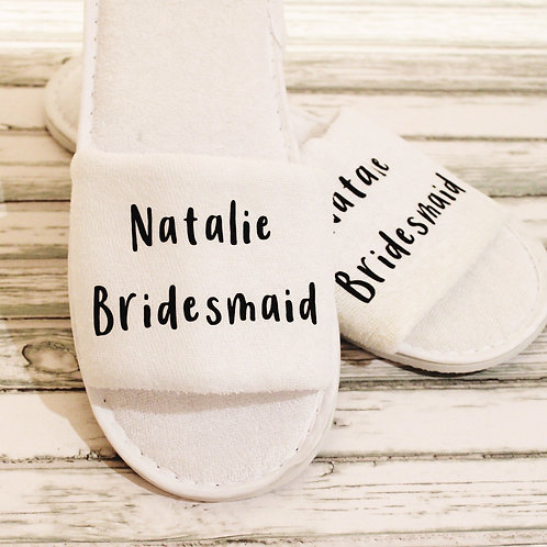 Open Toe Slippers - Name & Role Style 2