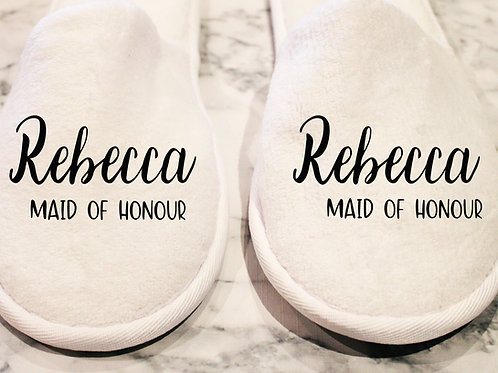 Closed Toe Slippers - Name & Role