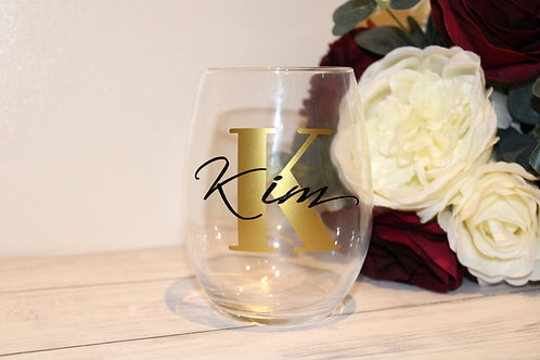 Initial & Name Style Tumbler