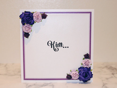 Floral Proposal Card