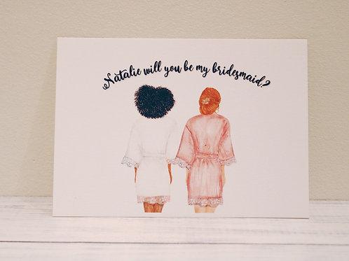 Flat Proposal Card (Bridesmaid)