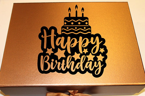 Large Birthday Gift Box (Cake)