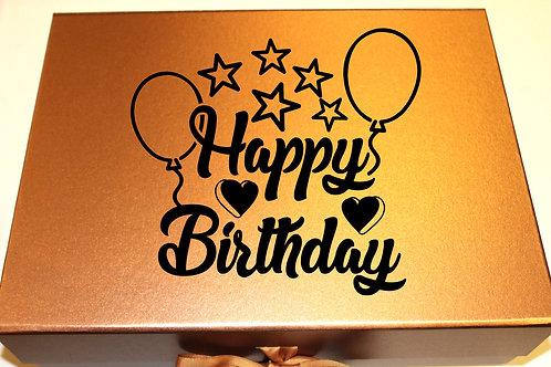 Large Birthday Gift Box (Balloons)