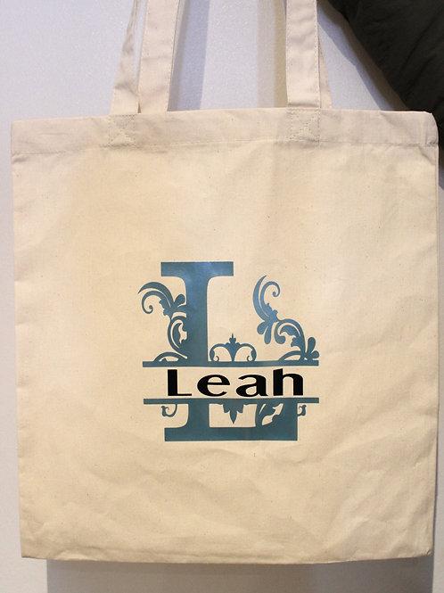 Cotton Tote Bag - Monogram