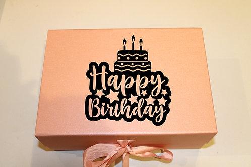 Small Birthday Gift Box (Cake)