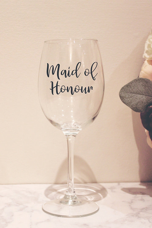 Personalise Wine Glass With Wedding Role