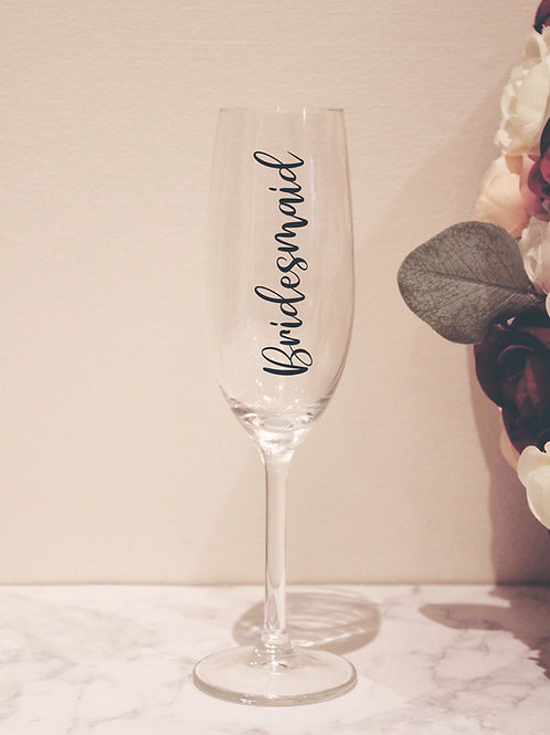 Personalised Champagne Flute With Role