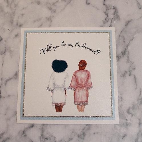 Flat Bridesmaid Proposal Card (Glitter)