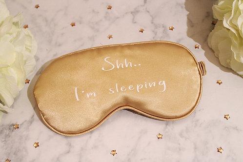 Satin Eye Mask - Shh I'm Sleeping