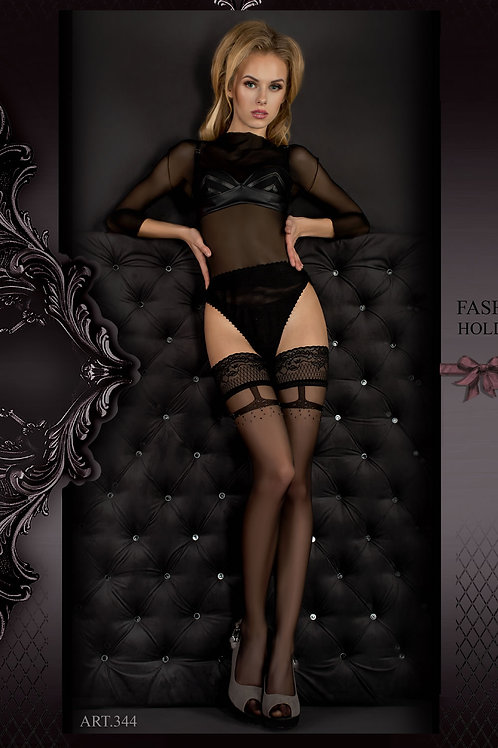 Ballerina 344 Hold Ups Nero (Black)