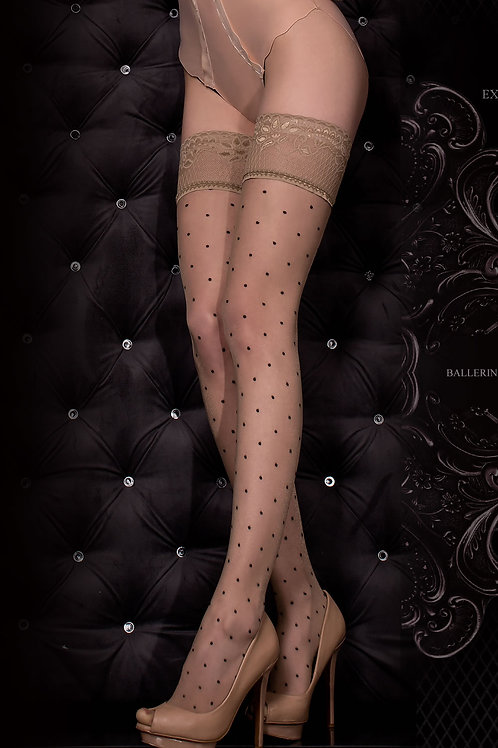 Ballerina 325 Hold Ups Nero (Black) / Skin