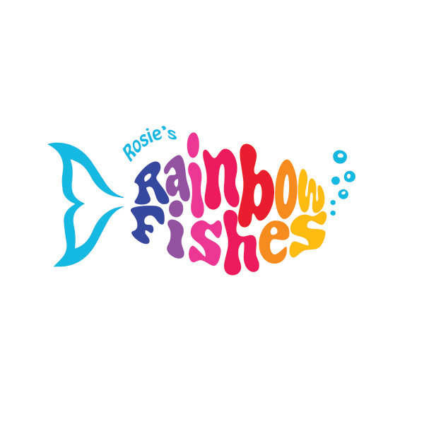 Rosie's Rainbow Fishes Logo Design