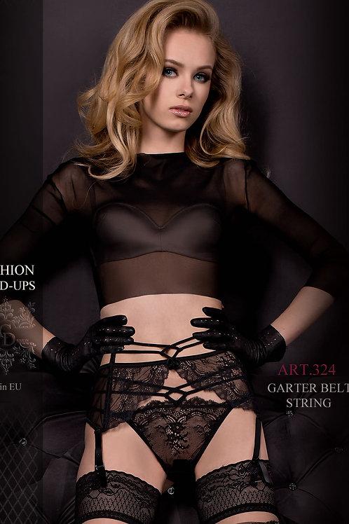 Ballerina 324 Garter Belt & String Black